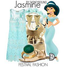 Disney Bound: Jasmine from Disney's Aladdin (Festival Fashion Outfit)