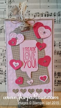 """By Kathe Oldham for """"The JorjaRose Files"""", Stampin' Up! """"Yippee-Skippee"""" and """"Hello Love"""" stamp sets ..."""