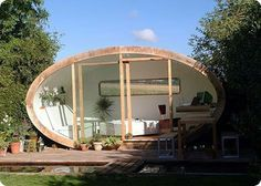 eco garden office pods from Roost Outdoor Office, Outdoor Rooms, Outdoor Living, Cabana, Garden Pods, Eco Garden, Eco Construction, Le Hangar, Bungalow