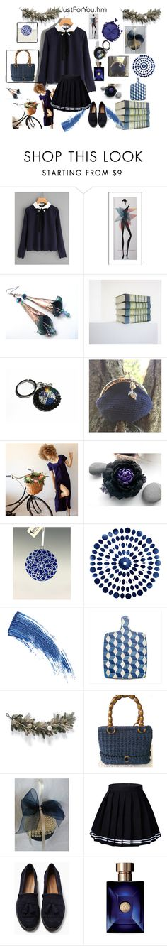 """""""Lovely blue"""" by justforyouhm ❤ liked on Polyvore featuring BMW, Mariella Burani, Eyeko, Frontgate, Versace and Pat McGrath"""