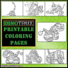 Dinotrux printable coloring pages