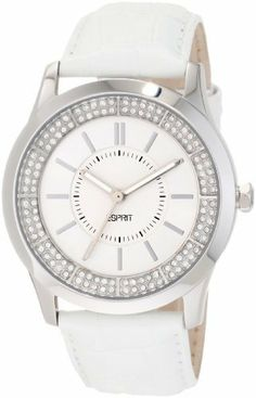 ESPRIT Women's ES103812001 Circuit Glam Analogue Watch Esprit. $80.50. Water-resistant to 99 feet (30 M). Durable mineral crystal protects watch from scratches. Quartz movement. Stainless steel case backing. Analog watch