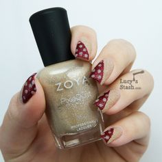 :ucy's Stash - Simple nail art design with Zoya PixieDust polishes