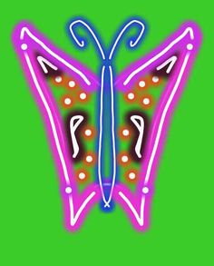 Day 27 -- neon butterfly
