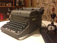 Vintage 1940s Typewriter Royal KMM Magic Margin.  I learned to type on one of these, it was mine in the late 50's.