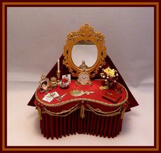 DRESSING TABLES & STOOLS - SIMPLY SILK MINIATURES