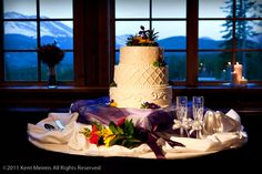 A wedding cake in the dinning room at Ten Mile Station.
