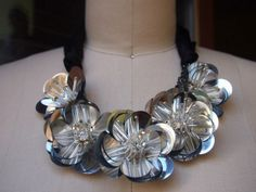 Turn some cheap materials into a very expensive statement necklace.