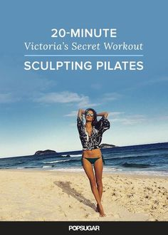 Try this Victoria's Secret model video workout — 20 minutes and done! Is created by Alessandra Ambrosio's trainer Heather Dorak.