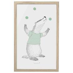 Bloomingville mini poster + lijst badger 33 x 55  cm