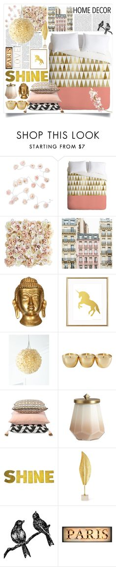 """""""bedroom"""" by ailav9 ❤ liked on Polyvore featuring interior, interiors, interior design, home, home decor, interior decorating, Oris, Talking Tables, DENY Designs and Pier 1 Imports"""