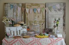 - vintage shabby-chic-- party