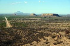 The areas where the conglomerates were softer eventually washed away leaving what are now referred to as the Ugab Terraces and the monument valley and Vingerklip formations. Description from idreamafrica.com.na. I searched for this on bing.com/images