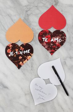 Free Printable Floral Valentines | Camille Styles