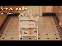 Set de baño para barbies  /Bathroom set diy - YouTube