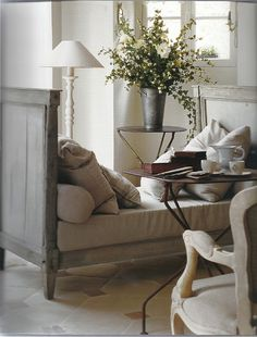 Sweet cozy little intimate area to go to - to read or take a cat nap!      ZsaZsa Bellagio: shabby chic