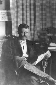 TR in a tuxedo and buckskin boots,one of my favorite pictures of him.
