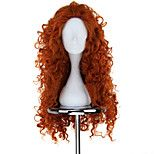 Nouveau BRAVE Film MERIDA long bouclés perruque orange Anime Cosplay