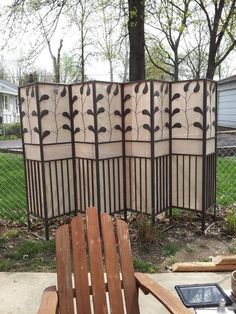 Made from recycled bits of a gazebo