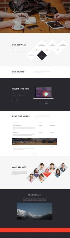 Office Landing Page Free PSD