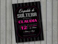 Invitacion de despedida de soltera | Bridal Shower invitation invitacionesdivanessa@yahoo.com