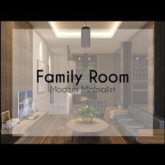 Family Room (Modern Minimalist) --------------------------------------------------------- #interior #design #modern #minimalist #familyroom…