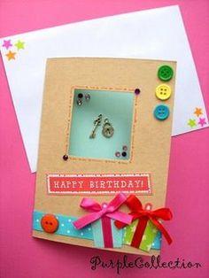 21st Birthday Card Making Idea