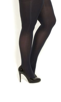 Women Opaque Tights | City Chic - CHARCOAL OPAQUE TIGHTS - Women's plus ...