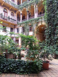 Courtyard of a traditional residential building in Budapest downtown (Teréz krt. 25.)