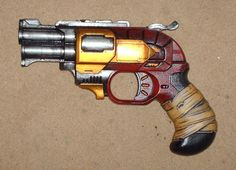 Dieselpunk Pistol Steampunk Gun Nerf Doublestrike by Badsprout