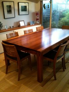Australian Blackwood Dining / Kitchen Table - Handmade to Order - on Etsy, $3,273.90