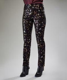 This Metallic Blocks Straight-Leg Pants is perfect! #zulilyfinds