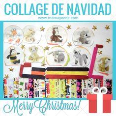 collage de navidad - trineo de peluches - mamaynene blog
