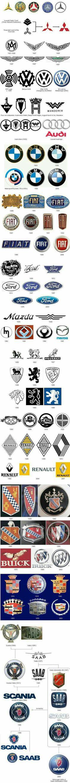 Evolution of auto logos Car Badges, Car Logos, Auto Logos, Evolution, Car Brands, All Cars, Car Manufacturers, Amazing Cars, Awesome