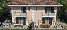 Progettazione villa bifamiliare Mansions, House Styles, Outdoor Decor, Home Decor, Mansion Houses, Homemade Home Decor, Manor Houses, Fancy Houses, Decoration Home