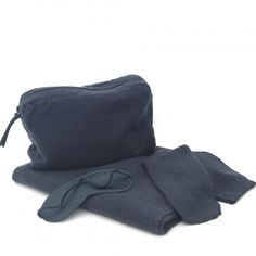 Bon Voyage by Kif Collection comprises a stunning wrap/scarf, eye mask and socks all in a stunning, silk lined pouch. Incredibly light, yet warm. Travel Organization, Travel Set, Neck Pillow, Travel Stuff, Sleep Mask, Cosplay Costumes, Scarf Wrap, Indigo, Knitwear