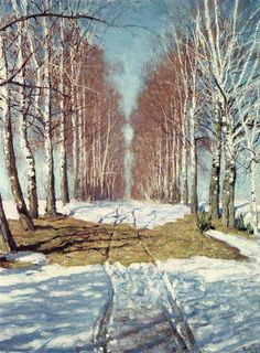 An Alley Amongst the Birches  Igor Grabar  1940