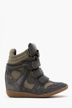 Hilight Wedge Sneaker in Gray