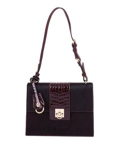 Look at this Bordeaux Croc-Embossed Calf Hair & Leather Shoulder Bag on #zulily today!