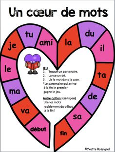 Valentine's Working day is considered one of my beloved instances to share with my family members and certain mates In particular to share with my little o Valentines Day Poems, Family Valentines Day, Teaching French Immersion, Communication Orale, Grade 1 Reading, French Teaching Resources, Core French, Valentines Day Activities, How To Speak French