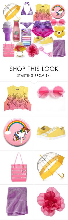 """Iris Sunday"" by wolfhound ❤ liked on Polyvore featuring Sourpuss, Levi's, UGG Australia, Monsoon, Hunter, Calypso St. Barth, Moma and Untold"