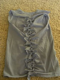 Sew Stylish Boutique: How to re fashion a t-shirt into a tank top (no sewing, just cutting)