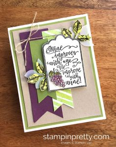 ORDER STAMPIN' UP! ON-LINE! Classy font & charming wine images in Half Full stamps. Daily tips, videos, 1000+ card ideas. 60% off Clearance.