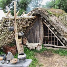 Pretty cool shelter at the Ribe Viking Center in Denmark.