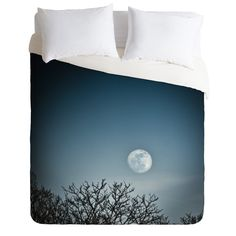 Bird Wanna Whistle Moon Duvet Cover | DENY Designs Home Accessories