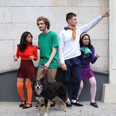 The Scooby-Doo Gang: Simple clothing in character-defining shades will make you and your friends look like these mystery-solvers.