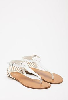 Cutout Faux Leather Sandals   Forever 21 - 2002246725