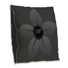 Black Gray Vintage Style Burlap Throw Pillow, editable monogram for grey, black color lovers.