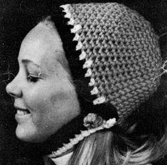 Crochet Hat pattern #2153 originally published by Bernat Handicrafter, Book 165.