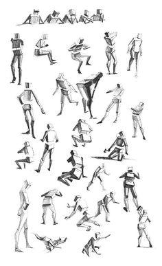 人体动态练习图之除草 插画 插画习作 画画的春哥 - 原创作品 - 站酷 (ZCOOL) Anatomy Drawing Practice, Human Anatomy Drawing, Drawing Body Poses, Drawing Exercises, Gesture Drawing, Stick Figure Drawing, Human Figure Drawing, Figure Sketching, Figure Drawing Reference